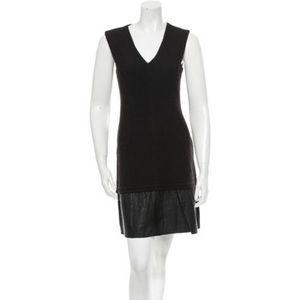 Cut25 by Yigal Azrouël Knit & Leather Ruffle Dress